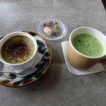 cafe&shop kaguya  - 抹茶のクレームブリュレと抹茶ささみどり