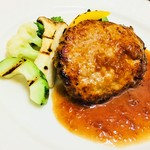 レストラン アオヤマ - 常陸牛&いも豚のハンバーグ