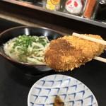 松下製麺所 - 松下製麺所(香川県高松市中野町)コロッケ・うどん1玉