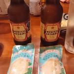 美味ぇ津゛ - ホッピー赤(ソト)300円とシャリキン(フローズン焼酎)300円
