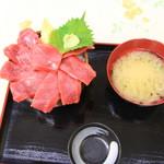 さんかく亭 - ガッツリ本マグロ丼