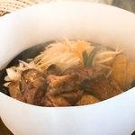 肉のはせ川 - 湯気の立つヒレステーキ