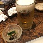 藤よし - 生ビールとお通し