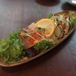 86470651 - 【旬の魚のカルパッチョ 香味野菜を添えて】(780円)