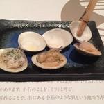 はまぐり庵 - 焼き蛤セット(バター、ガーリック、醤油)