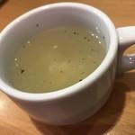 ガスト - スープはドリンクバーコーナーに