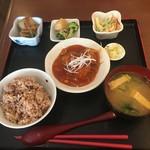 レストラン食茶房むうぷ - (料理)日替り自然定食(肉団子の甘酢あん)