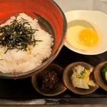翠翔 - 卵かけご飯 名古屋コーチンの濃厚な卵の味をシンプルにお楽しみいただけます。