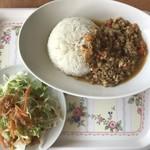 タイ食堂 サワディー - 鶏肉の生姜炒めかけライス&サラダ