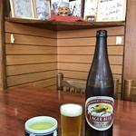 きはら - お茶 + ビール(大瓶)(キリン)