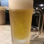 長浜屋台 やまちゃん - 生ビール   キンキンです。