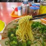 もっこす - 中華そば、この細麺が好き!
