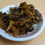九州筑豊ラーメン 山小屋 - 高菜 セルフサービス