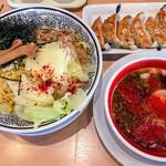 丸源ラーメン - 旨辛つけ麺(大盛)+焼き餃子