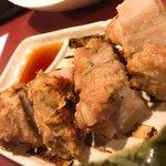 炭火焼とり 安喜 - 蓮根肉詰め