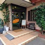 カフェ カプチーノ - カフェカプチーノ入口、モーニングメニュー