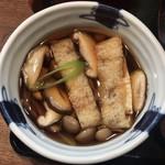 こめんこ屋 - きのこ汁うどん ¥720 のつけ汁