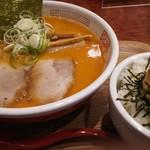 元祖海老そば 縁や - 昼得セット:海老そば味噌 & 葱チャーシュー丼