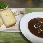 ハーブガーデンカフェ アニス - 料理写真:お肉ごろごろシチューセット