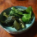 焼き鳥きむら - 胡瓜漬&青菜漬