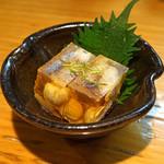 石臼挽き手打 蕎楽亭 - ハモ子の煮こごり