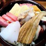 寿司鉄 - 寿司鉄 @平和台 ランチちらし 煮穴子を伸ばして
