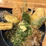 高浜や - 野菜天ぶっかけ(冷)@750