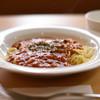 kissakokokara - 料理写真:ミートソーススパゲティ(ご希望の方にはパンひとつサービス)