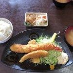 えびせい - ジャンボエビフライ定食 大盛り ¥1,700-