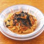 カプリチョーザ - 茄子とほうれん草のミートソーススパゲッティ