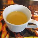 薪焼きハンバーグと厚切りステーキ 薪たま - コーンスープ