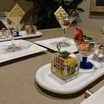 料理宿 ZEN - 料理写真:アミューズ3種にオシャレなグラスに入った小鉢