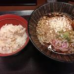 嵯峨谷 - アジご飯(小)と蕎麦のセット