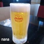 琉球回転寿司 海來 - 今日はもう飲まんどこうと思っていたけど とりあえず生。w