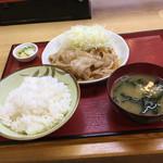 86513041 - 釜つる 豚生姜焼き定食