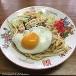 星川製麺 彩 - 料理写真:目玉焼き付きやきうどん(300円税込)