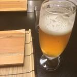 名栗温泉 大松閣 - 生ビール(のみかけスマソ汗)