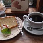 ゆば - 料理写真:ケーキセット