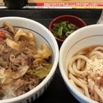 86530425 - 和風牛丼と冷しうどん(小)