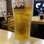 とんかつ天領 - 生ビール(400円)