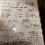86536305 - 餃子メニュー