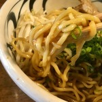 麺鮮醤油房 周月 - 油そば  大盛り 麺リフト〜(*^▽^*)❤️