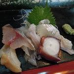 寿司・割烹 すし半 - お刺身(少しつまむ程度で注文)
