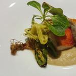 86540196 - 金目鯛のグリル 季節野菜と