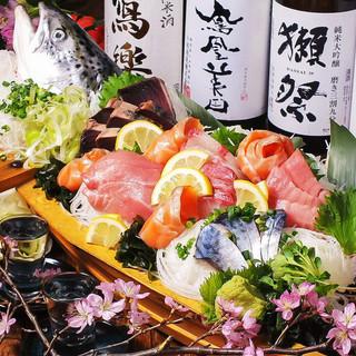伊勢湾鮮魚を使用した贅沢海鮮宴会コース3980円♪