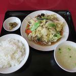 太閤園 - 料理写真:やさい炒め定食(2018/05/24撮影)
