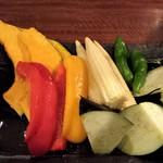 やきにくのバクロ - 焼き野菜。