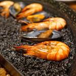 スペイン料理Pablo - 2色の魚介パエリア イカ墨風味