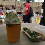 大阪王将 - パクチーフェスでのパクチービールとモヒートと水餃子(お店とは無関係)