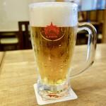 北海道フードレストラン 銀座ライオン - [2018/04]サッポロクラシック生ビール・大ジョッキ(1020円+税)